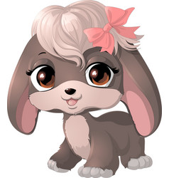 happy cartoon puppy vector image