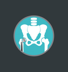 hip replacement logo icon design vector image