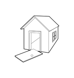 House destroyed icon outline style vector