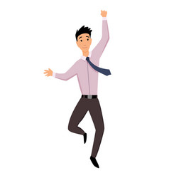 Jumping business people business man jumps on a vector