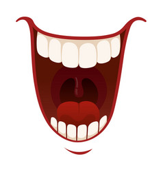 laughter and fun icon emotional happy mouth vector image