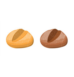 Loaf wheat and rye toast bread vector