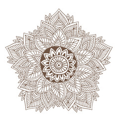 Mandala or henna tattoo design ornamental round vector