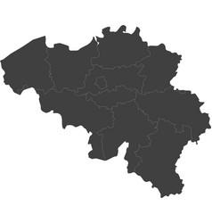 Map of belgium split into regions vector