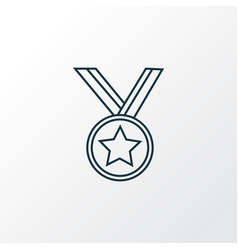 medal icon line symbol premium quality isolated vector image