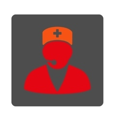 Medical Operator Flat Button vector