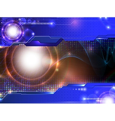 modern glowing composition vector image