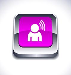 Music 3d button vector