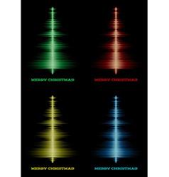 Musical christmas tree set vector