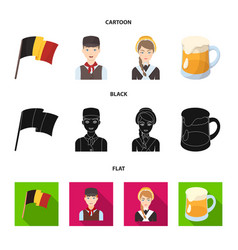 national flag belgians and other symbols of the vector image