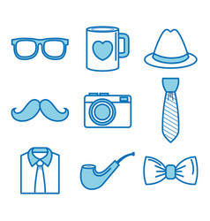 Objects for men set vector
