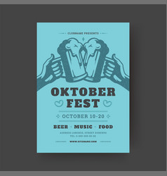 Oktoberfest party flyer vintage typography vector