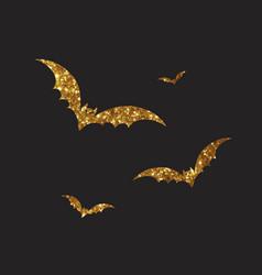 orange and black halloween design element bat vector image