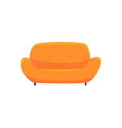 orange sofa or couch living room or office vector image
