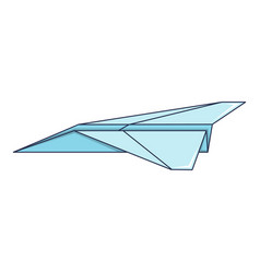 origami airplane icon cartoon style vector image