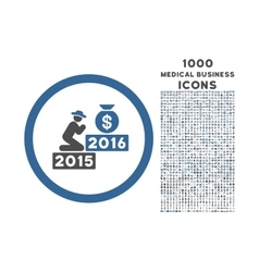 Pray for Money 2016 Rounded Icon with 1000 Bonus vector image