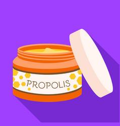 Propolis face cream icon flat style vector