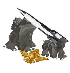 Rocket launcher and Golden insignia vector image
