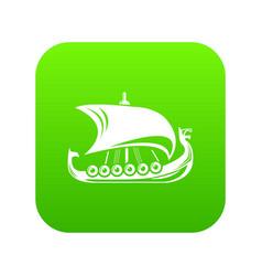 scandinavian ship icon simple style vector image