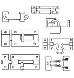 set of latch vector image