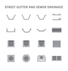 Sewer gutter icon vector