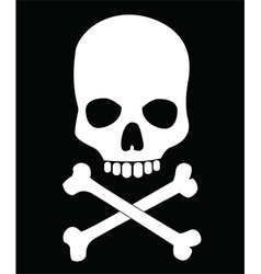 Skull and crossbones design vector