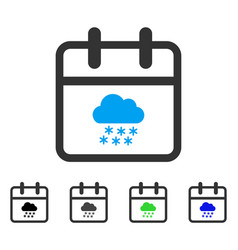 Snow day flat icon vector