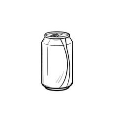 Soda pop can hand drawn sketch icon vector
