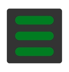 Stack flat green and gray colors rounded button vector