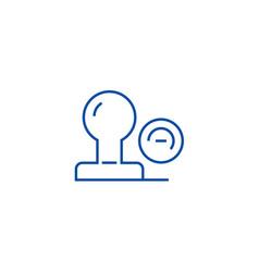 stamp line icon concept stamp flat symbol vector image