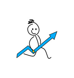 stick figures stick figures business strategy a vector image