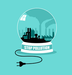 stop pollution concept graphic vector image