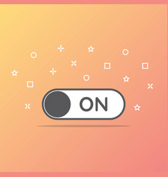 Switch on toggle icon in flat style vector