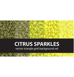 Triangle pattern set citrus sparkles seamless vector