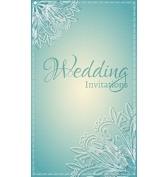 Vintage lace card vector