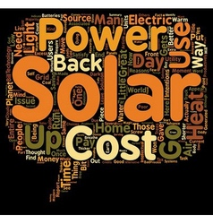 Why Use Solar Power Some Great Reasons text vector