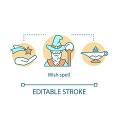 Wish spells concept icon sorcery desire vector