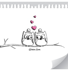 card with owls vector image vector image