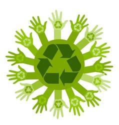 Conceptual ecology vector image