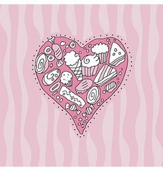 Doodle Heart vector image