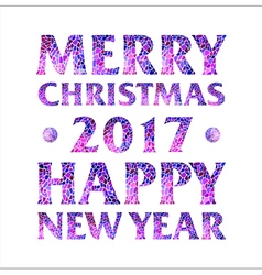 Inscription Merry Christmas 2017 Happy new year vector image vector image