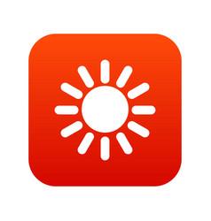 sun icon digital red vector image vector image