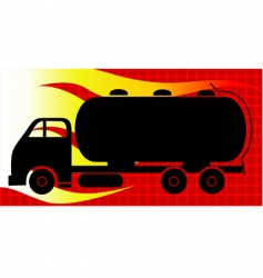 tanker lorry vector image