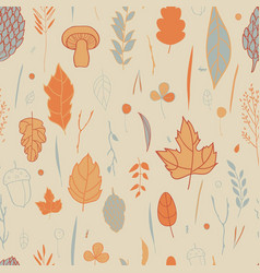 autumn pattern with the image of leaves vector image vector image