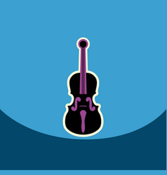 flat icon design collection musical vector image