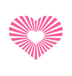 Love heart shinning stripe graphic vector