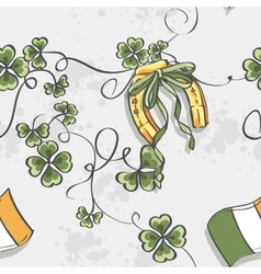 Seamless texture for St Patricks Day vector image vector image