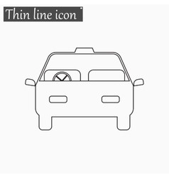 Car icon Style thin line vector image vector image