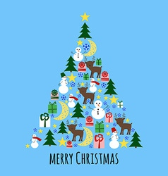 Fir Tree from Christmas Stuff Greeting Card vector image