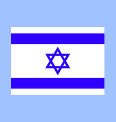 official israel flag vector image